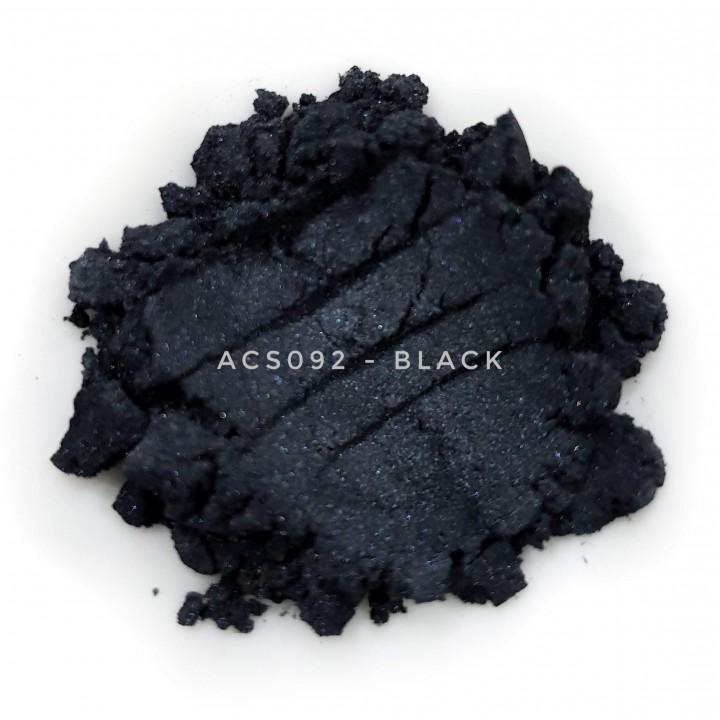 Косметический пигмент ACS092 Black (Черный), 5-25 мкм