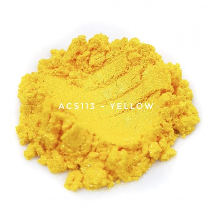 Косметический пигмент ACS113 Yellow (Желтый), 10-60 мкм