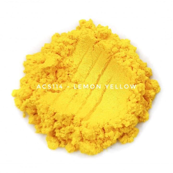 Косметический пигмент ACS114 Lemon Yellow (Лимонно-желтый), 10-60 мкм