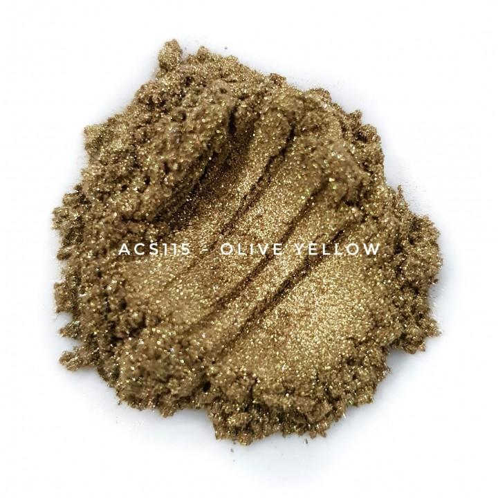Косметический пигмент ACS115 Olive Yellow (Оливково-желтый), 10-60 мкм