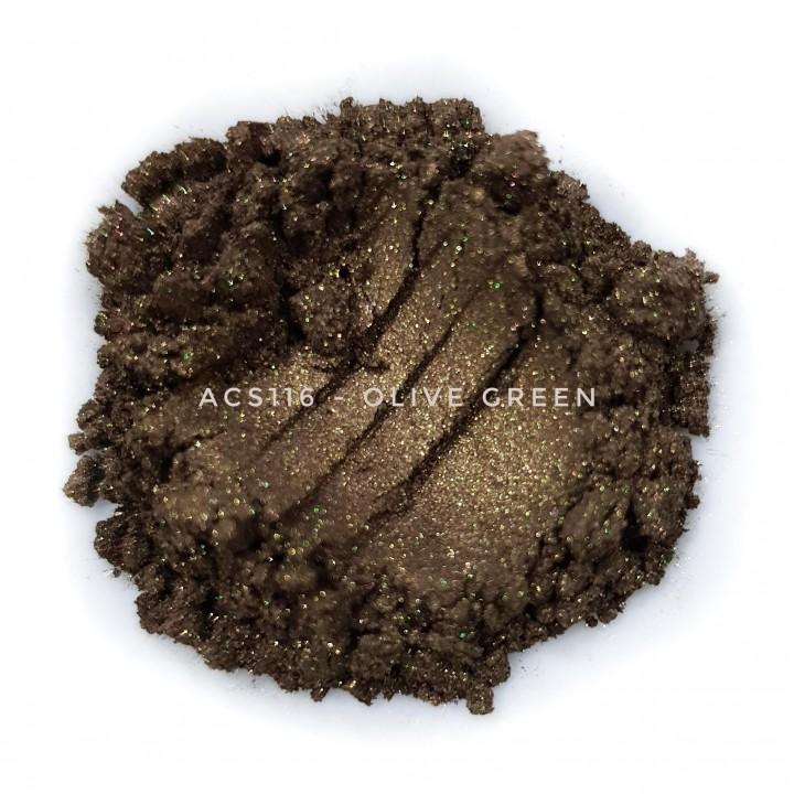 Косметический пигмент ACS116 Olive Green (Оливково-зеленый), 10-60 мкм