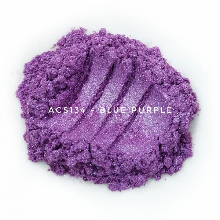 Косметический пигмент ACS134 Blue Purple (Сине-пурпурный), 10-60 мкм