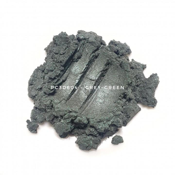 Косметический пигмент PC3D6040 Light Silver Green (Светлый серебристо зеленый), 10-60 мкм