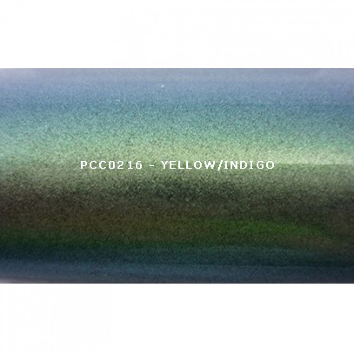 Косметический пигмент PCC0216 Yellow/Indigo (Желтый/индиго), 20-80 мкм