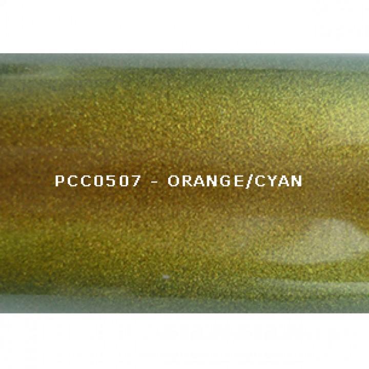 Косметический пигмент PCC0507 Orange/Cyan (Оранжевый/циан), 20-80 мкм
