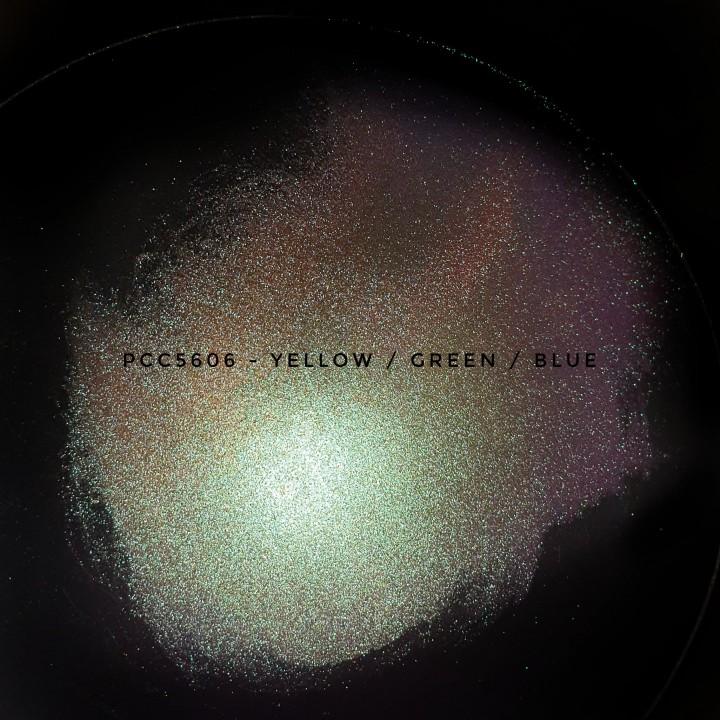 Косметический пигмент PCC5606 yellow/yellow-green/green/blue (Желтый/желто-зеленый/зеленый/синий), 10-60 мкм