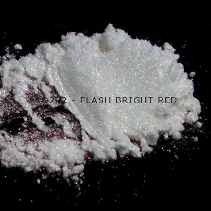 Косметический пигмент PCD222 Flash Bright Red (Вспыхивающий ярко-красный), 20-100 мкм
