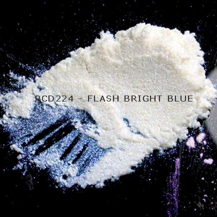 Косметический пигмент PCD224 Flash Bright Blue (Вспыхивающий ярко-голубой), 20-100 мкм