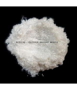 PCD230 - Блестки ярко-белые, 30-150 мкм (Glitter Bright White)