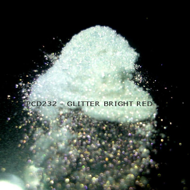 Косметический пигмент PCD232 Glitter Bright red (Блестки ярко-красные), 30-150 мкм