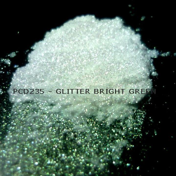 Косметический пигмент PCD235 Glitter Bright Green (Блестки ярко-зеленые), 30-150 мкм