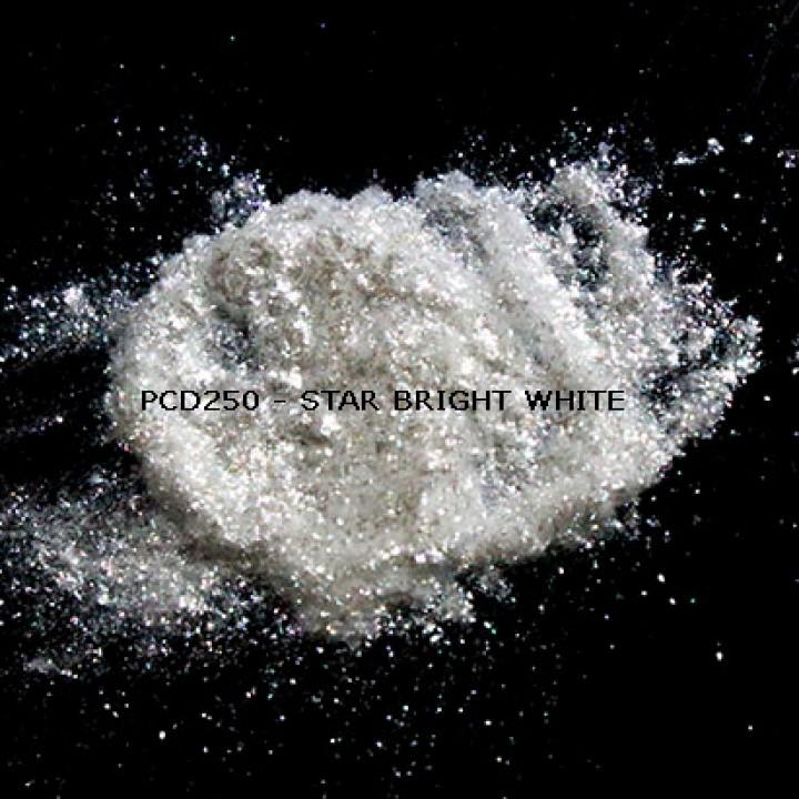 Косметический пигмент PCD250 Star Bright White (Звездный ярко-белый), 50-300 мкм