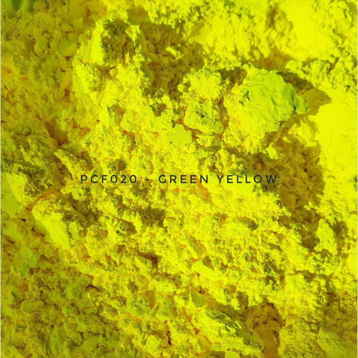 Косметический пигмент PCF020 Green Yellow (Зелено-желтый), 1-2 мкм