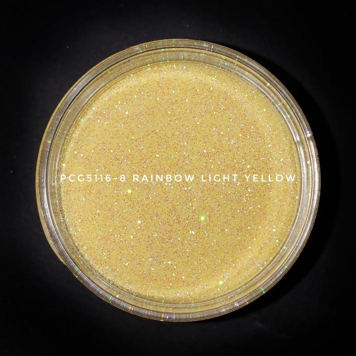 Косметический глиттер PCG5116-200 Rainbow Light Yellow (Радужный светло-желтый), 200-200 мкм