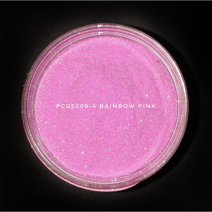Косметический глиттер PCG5209-100 Rainbow Pink (Раждужный розовый), 100-100 мкм