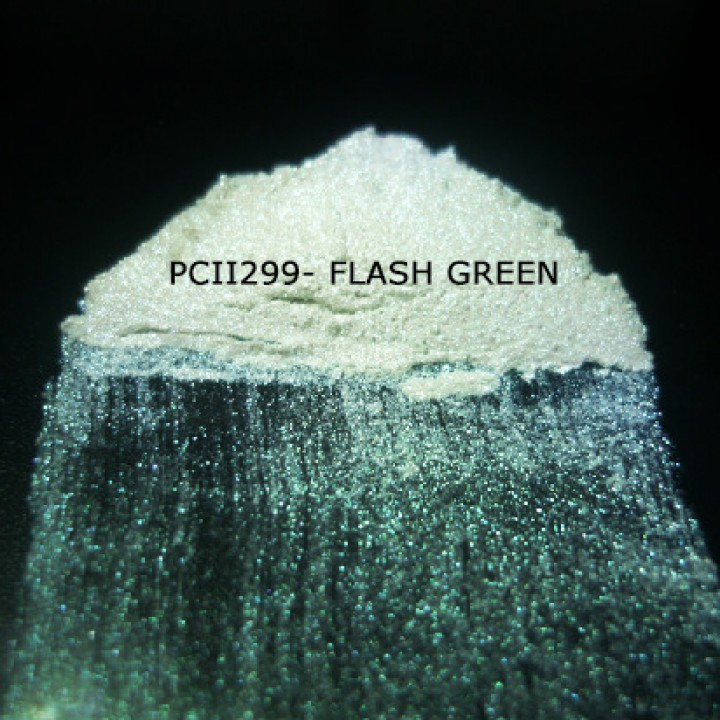 Косметический пигмент PCII299 Flash Green (Вспыхивающий зеленый), 10-100 мкм