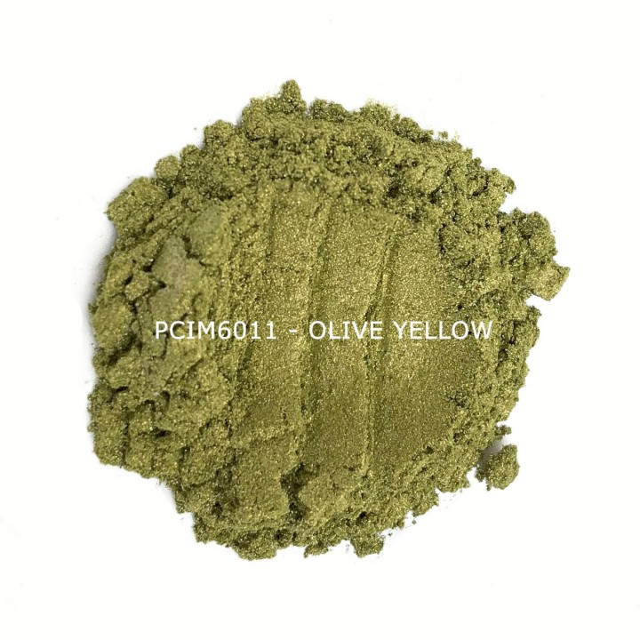 Косметический пигмент PCIM6011 Olive Yellow (Оливково-желтый), 10-60 мкм
