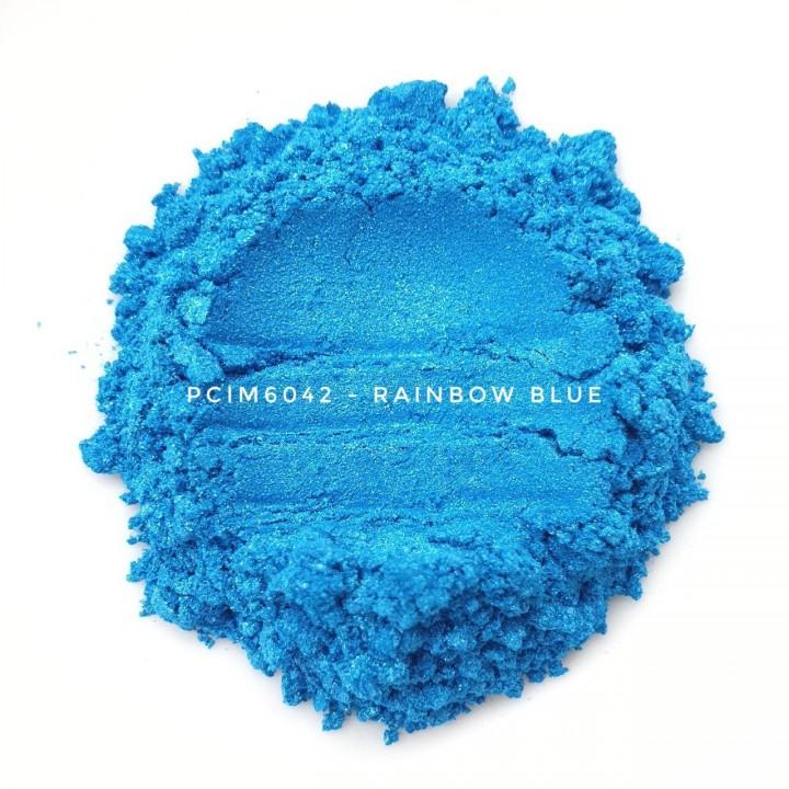 Косметический пигмент PCIM6042 Iridescent Blue (Радужный голубой), 10-60 мкм