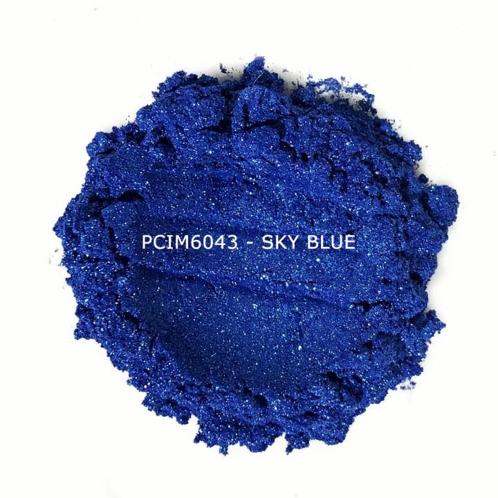 Косметический пигмент PCIM6043 Sky Blue (Небесно-голубой), 10-60 мкм