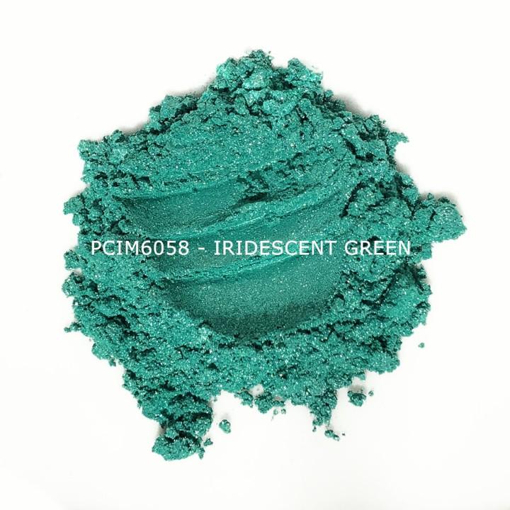 Косметический пигмент PCIM6058 Iridescent Green (Радужный зеленый), 10-60 мкм