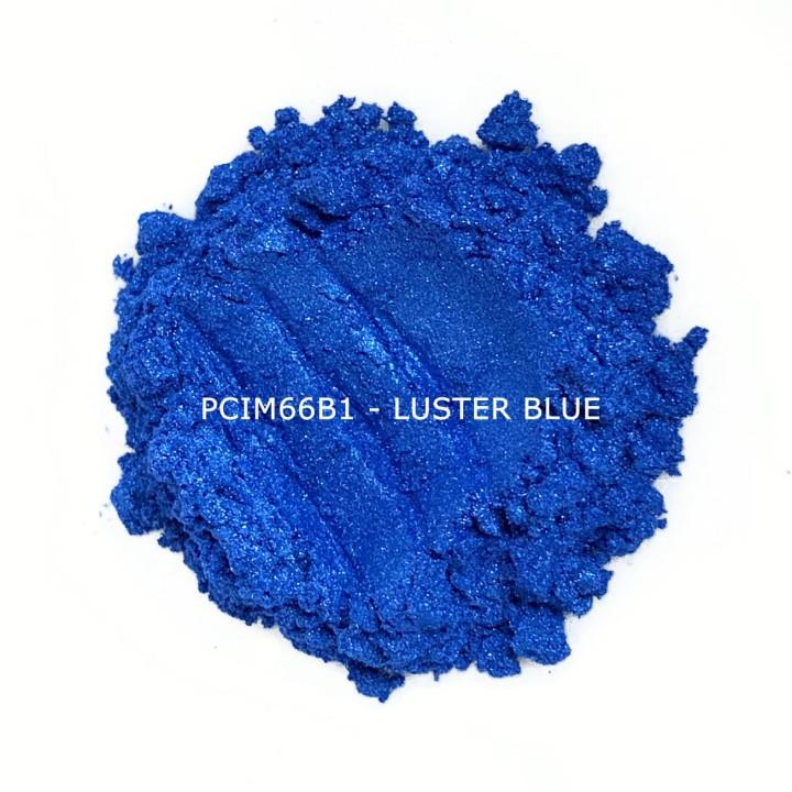 Косметический пигмент PCIM66B1 Luster Blue (Блестящий зеленый), 10-60 мкм