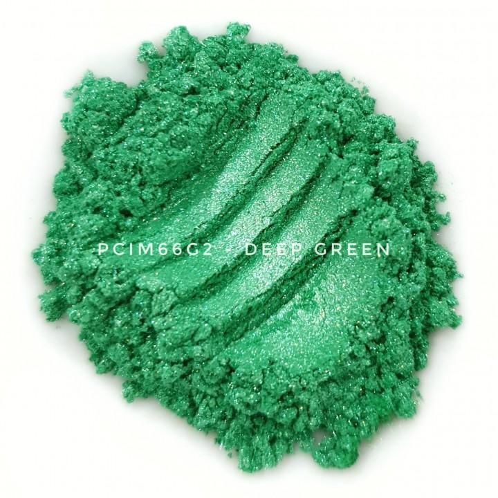 Косметический пигмент PCIM66G2 Deep Green (Глубоко-зеленый), 10-60 мкм