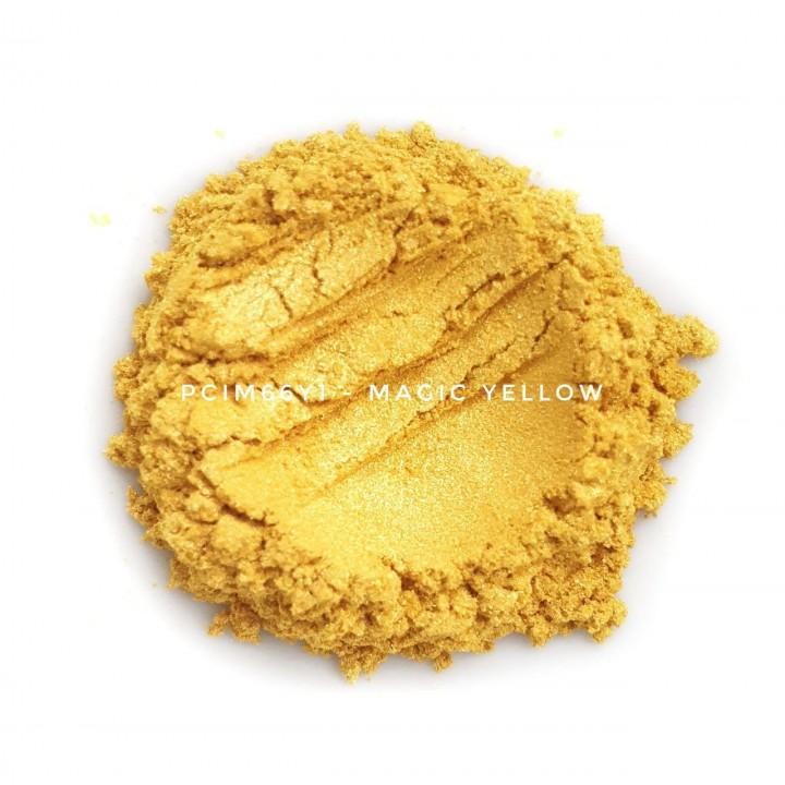 Косметический пигмент PCIM66Y1 Magic Yellow (Волшебный желтый), 10-60 мкм