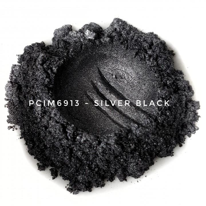 Косметический пигмент PCIM6913 Silver Black (Серебристо-черный), 10-60 мкм