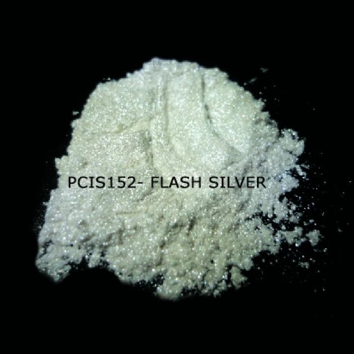 Косметический пигмент PCIS152 Flash Silver (Вспыхивающий серебряный), 10-100 мкм