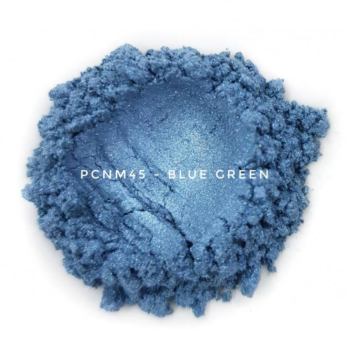 Косметический пигмент PCNM45 Blue Green (Сине-зеленый), 10-60 мкм