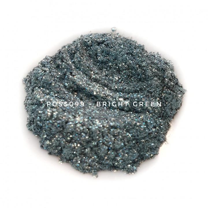 Косметический пигмент PCSS099 Bright Green (Ярко-зеленый), 30-150 мкм
