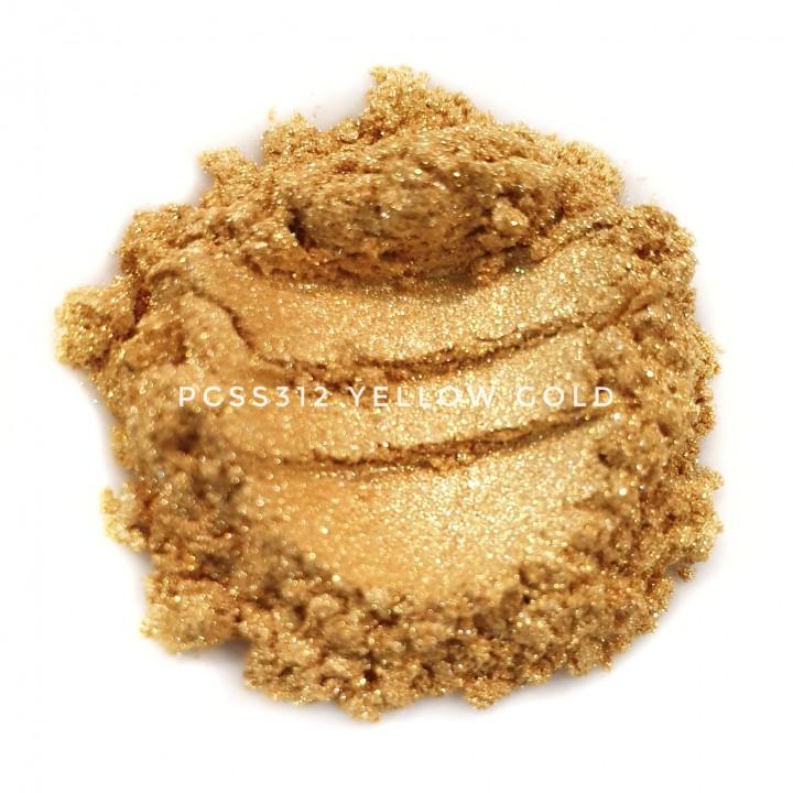 Косметический пигмент PCSS312 Yellow Gold (Желтое золото), 10-60 мкм