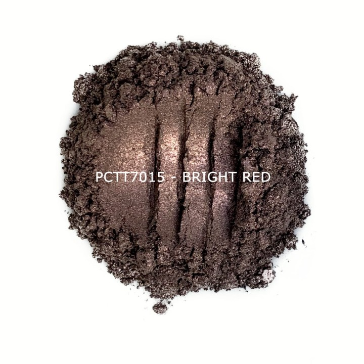 Косметический пигмент PCTT7015 Bright Red (Ярко-красный), 10-60 мкм