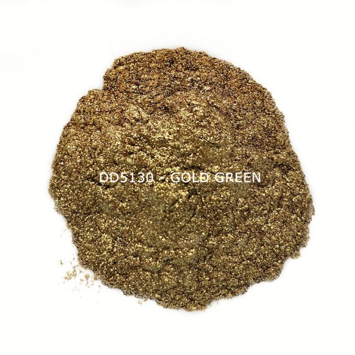 Индустриальный пигмент DD5130 Gold Green (Золотой/зеленый), 50-100 мкм