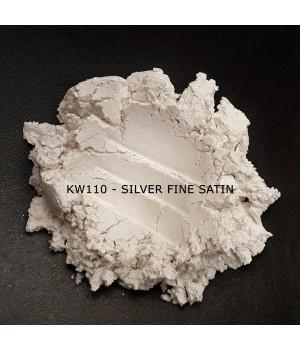 KW110 - Атласное серебро, 0-15 мкм (Silver Fine Satin)