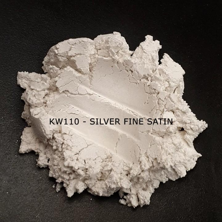 Индустриальный пигмент KW110 Silver Fine Satin (Атласное серебро), 0-15 мкм