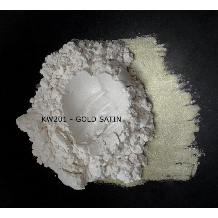 Индустриальный пигмент KW201 Gold satin (Золотой атлас), 5-25 мкм