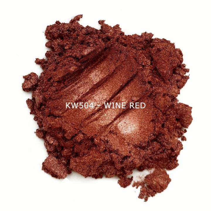Индустриальный пигмент KW504 Wine red (Винно-красный), 10-60 мкм