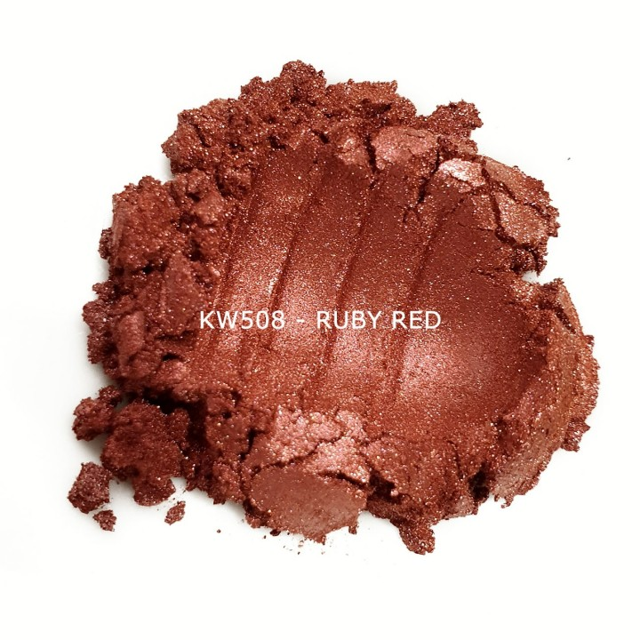 Индустриальный пигмент KW508 Ruby red (Рубиново-красный), 10-60 мкм