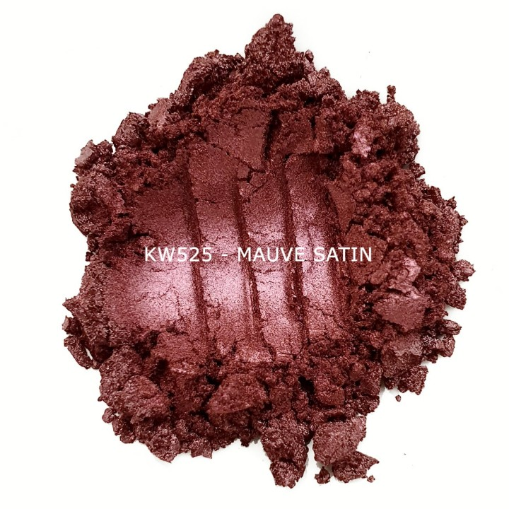 Индустриальный пигмент KW525 Mauve satin (Малиновый атлас), 5-25 мкм