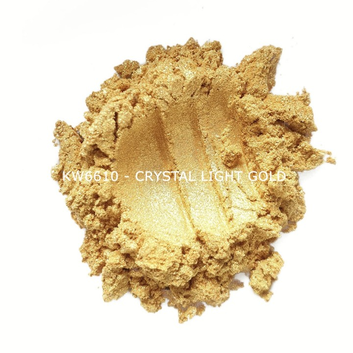 Индустриальный пигмент KW6610 Crystal Light Gold (Золотой), 10-60 мкм