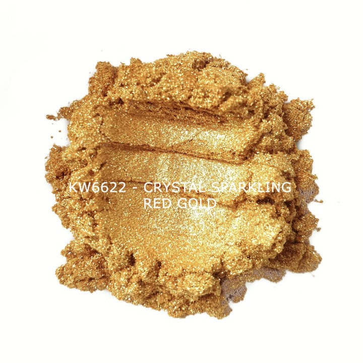 Индустриальный пигмент KW6622 Crystal Sparkling Red Gold (Золотой), 10-60 мкм