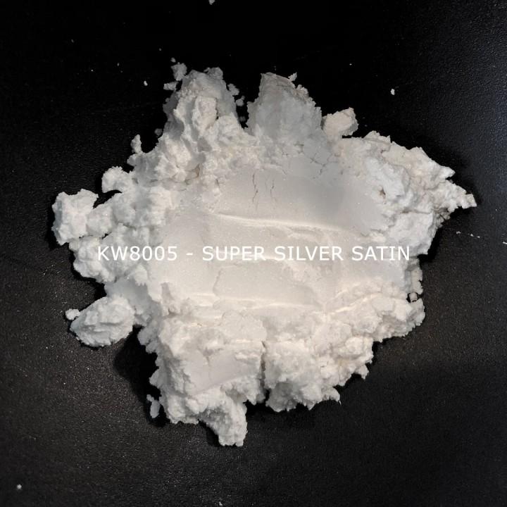 Индустриальный пигмент KW8005 Super Silver Satin (Серебристый), 2-15 мкм