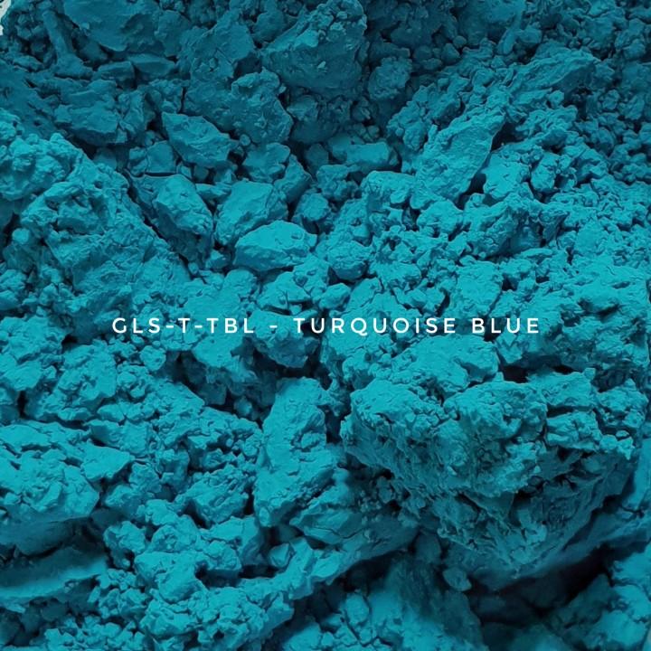 Универсальный пигмент GLS-T-TBL33 Turquoise blue 33 (Бирюзово-синий 33), 3-10 мкм